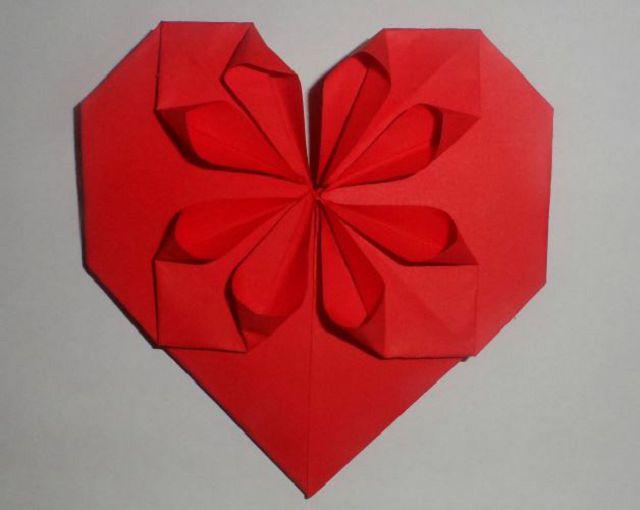 Оригами коробочка сердце схема
