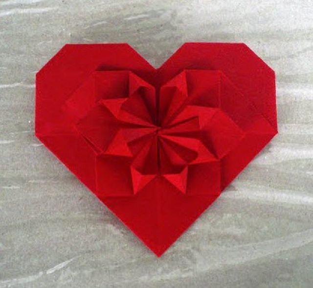 Сердечко с оригами своими рукам 188
