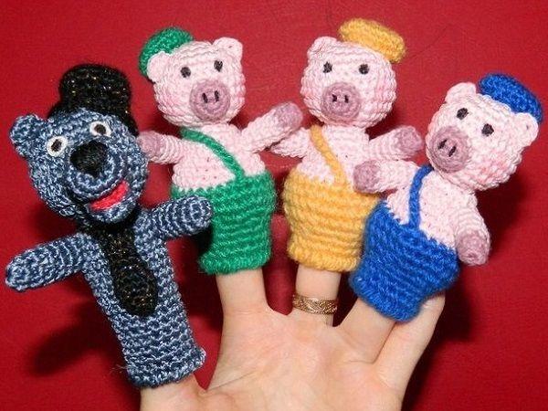 Пальчиковый кукольный театр своими руками связанный крючком