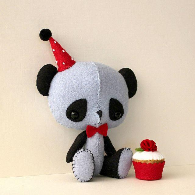 Мягкие игрушки панда своими руками
