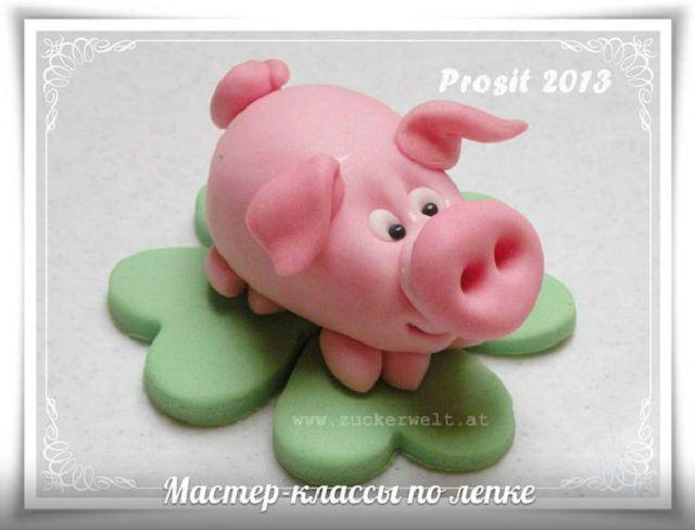 Как сделать свинку пеппу из пластилина
