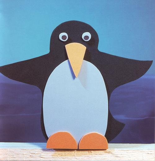 Пингвин из бумаги своими руками