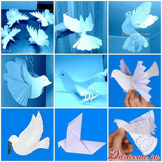 Объёмные птички своими руками 80
