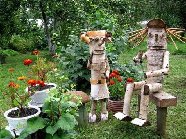 Поделки для сада и огорода из дерева своими руками фото