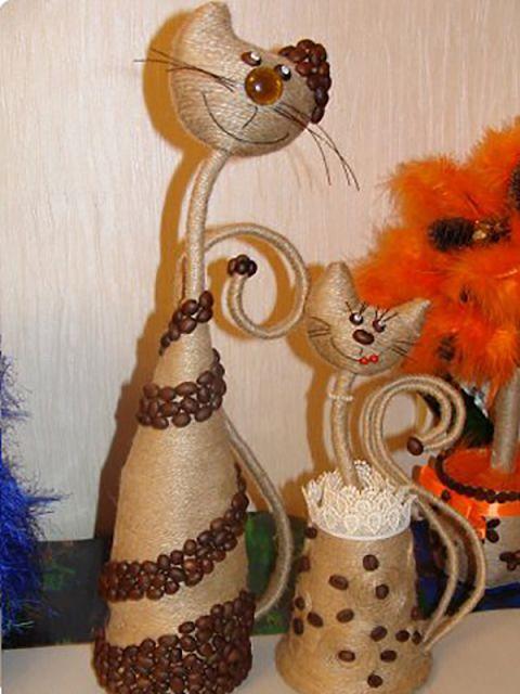 Кот из шпагата своими руками 56