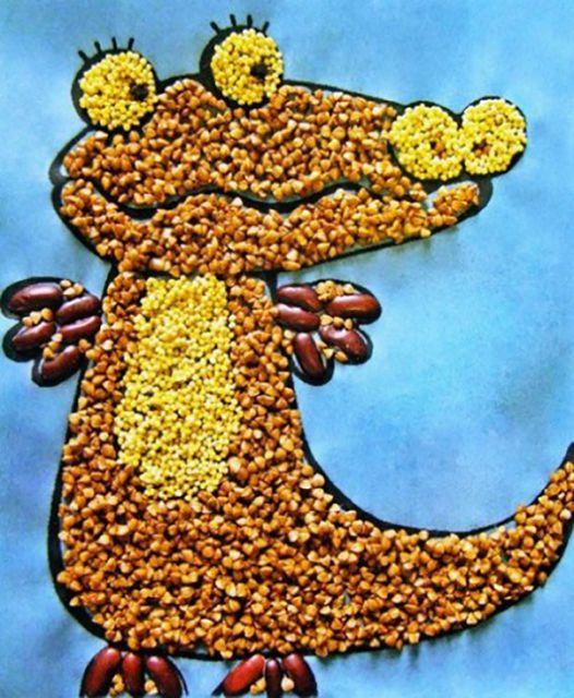 Поделки и круп и семян своими руками 363