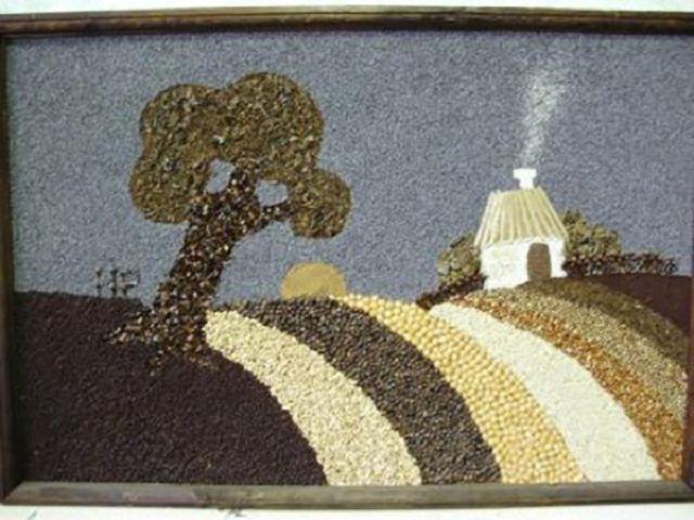 Рисунок ежик для поделки из семечек