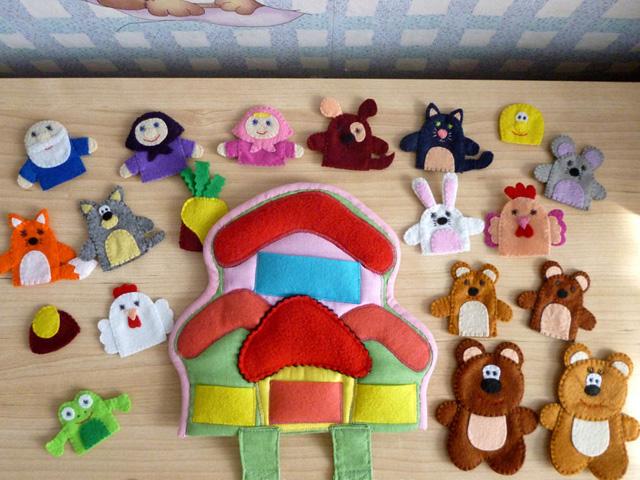 Как сделать своими руками игрушки для сказки
