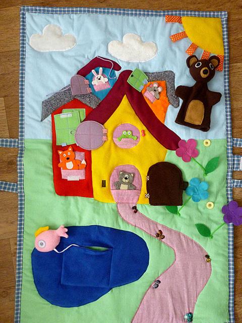 Детский развивающий коврик своими руками для детского сада