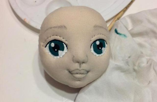 Мастер класс роспись лица текстильной кукле