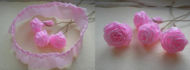 Цветы из флористической бумаги