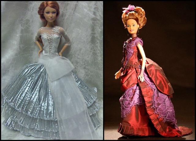 Шьём куклам платья мастер класс своими руками #10