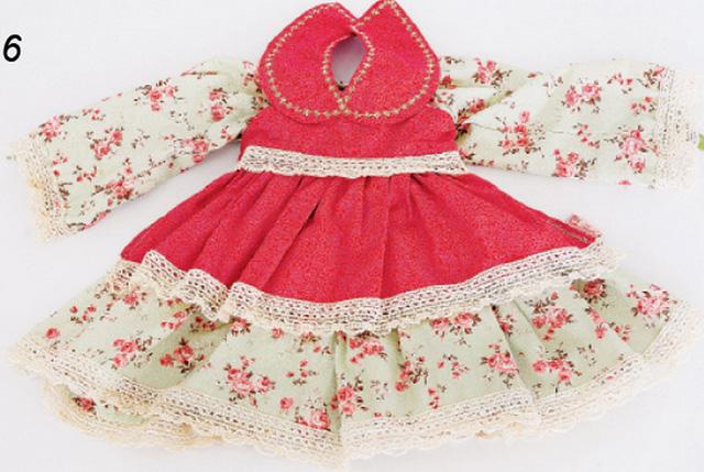Выкройка маленького платья для куклы