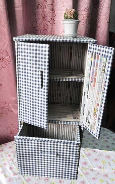 Шкафчик из газеты своими руками