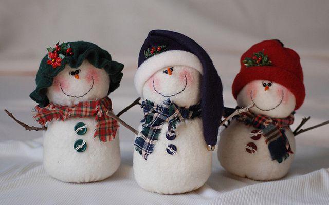 Своими руками сделать снеговика из ваты