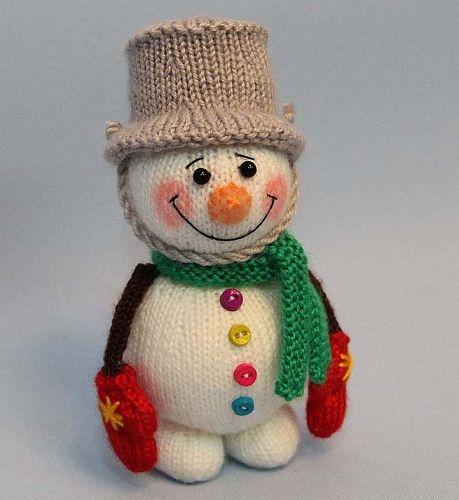 Как связать снеговика спицами, мастер класс, фото, идеи