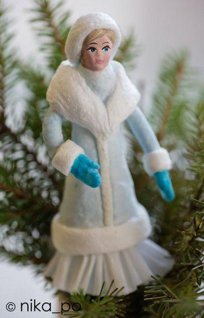 Снегурочка своими руками из ваты