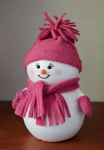 Как сделать красивый снеговик своими руками