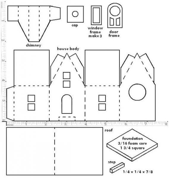 Объемные домики своими руками из бумаги