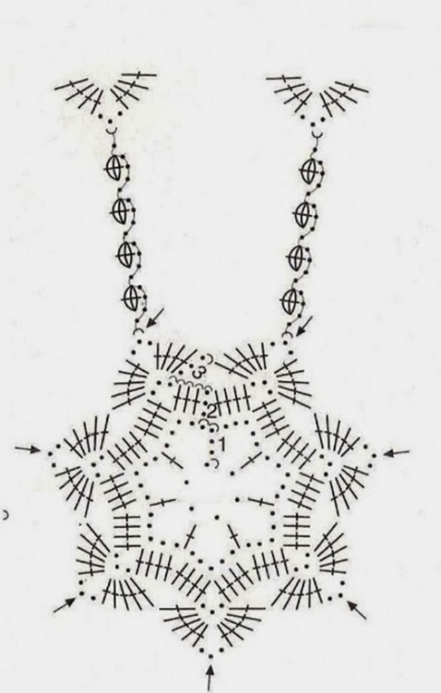 схемы ажурных мешочков крючком