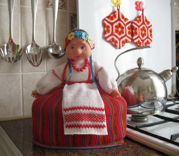 Как сделать куклу на чайник фото 411