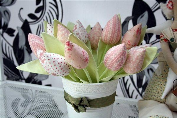 тюльпаны из ткани выкройки