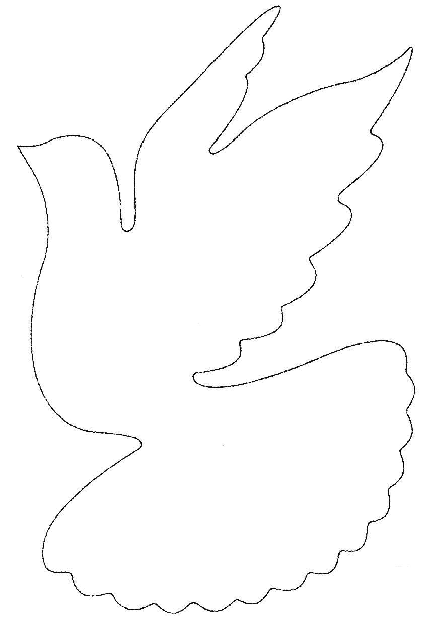 Вырезание голубя мира своими руками 814