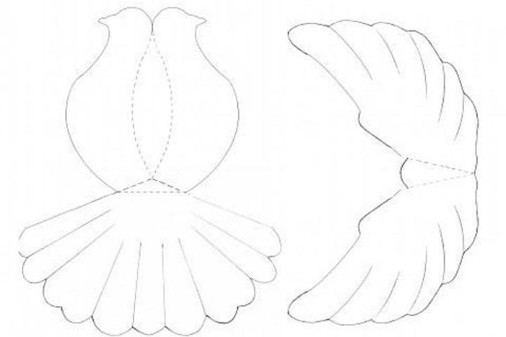 Объёмный голубь из бумаги своими руками шаблоны