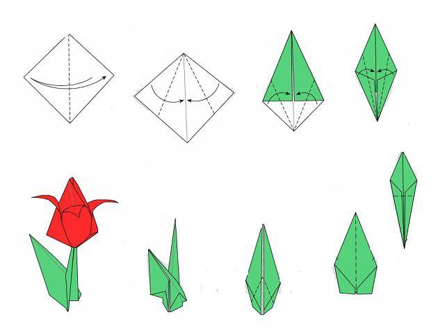 Как из тетрадного листа сделать цветок