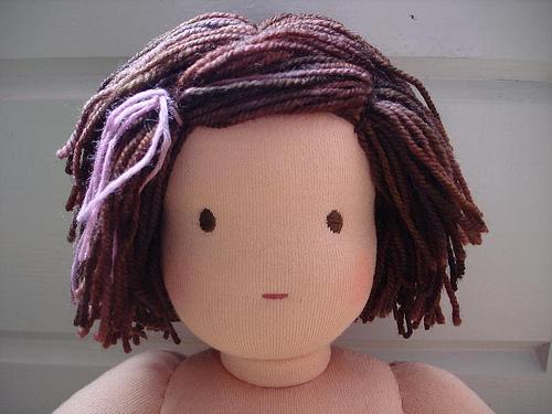 Голова мягкой куклы