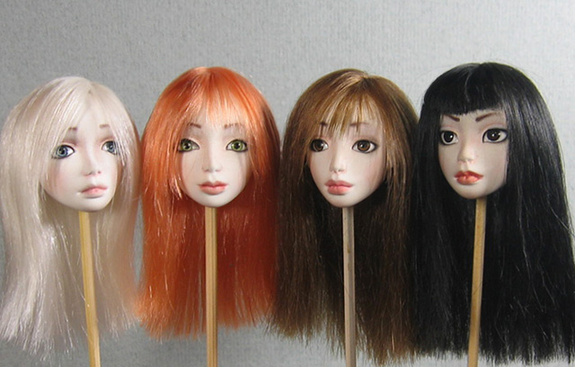 Волосы для куклы из атласной ленты мастер класс