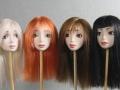 Волосы из атласных лент для кукол