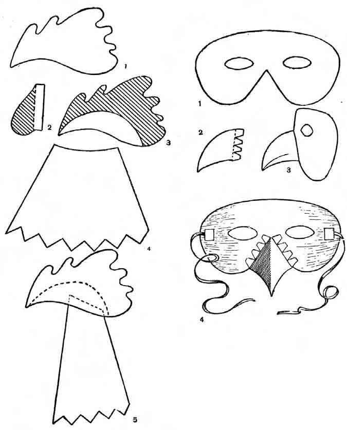 Как сделать маски из бумаги сорока