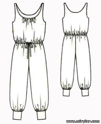 Выкройки летних комбинезонов для - Выкройка летнего комбинезона - выкройки одежды