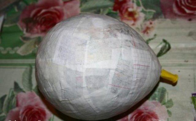 Как сделать большой шар из папье маше 17
