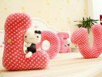 Буквы подушки выкройки