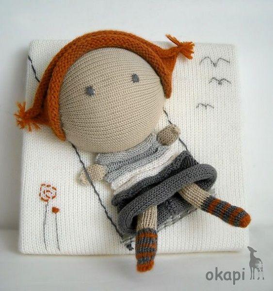 забавная куколка из носка