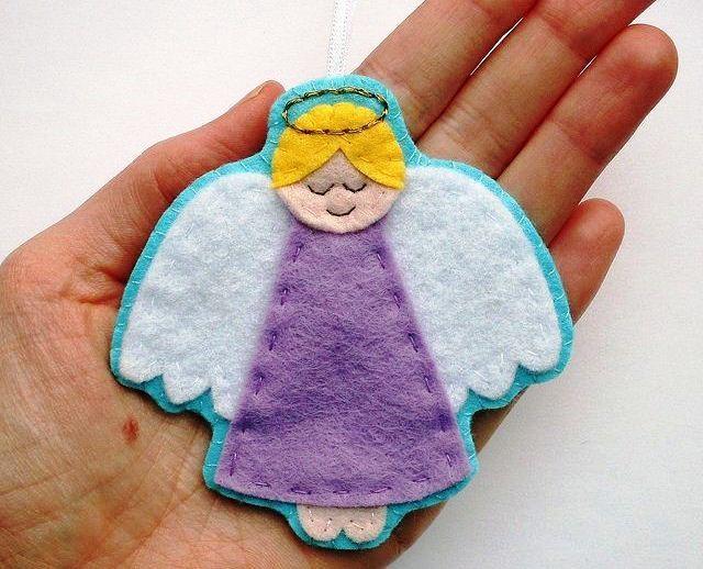ангел из фетра