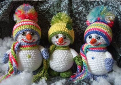 Снеговик схема вязания