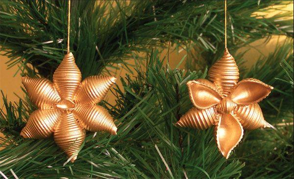 украшения на елку из макарон