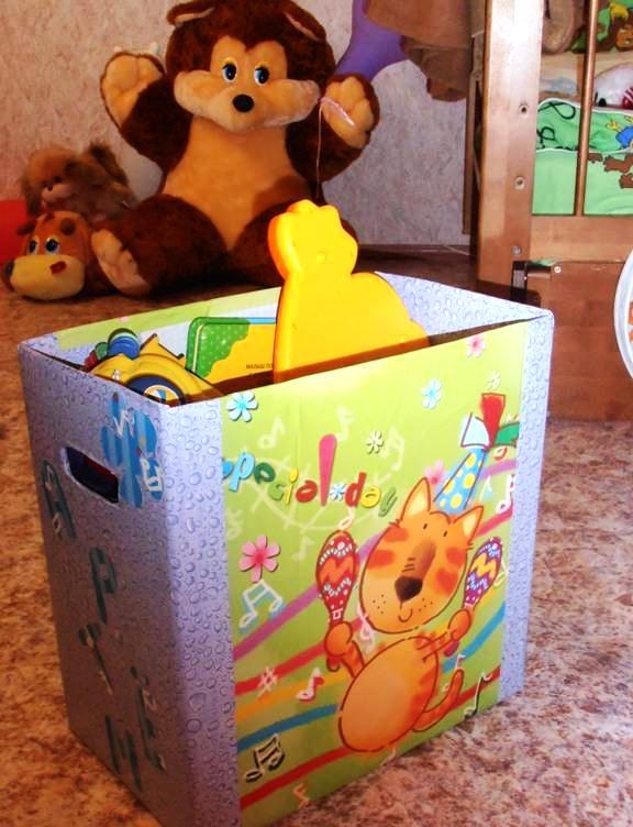 Коробка для игрушек своими руками фото 550