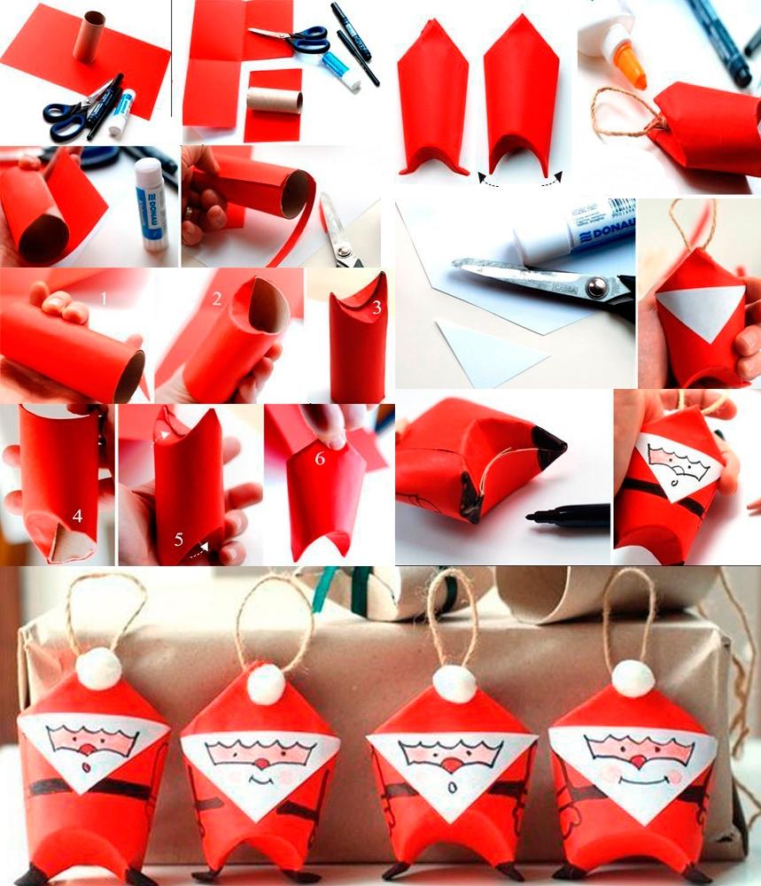 Игрушки новогодние своими руками из бумаги картона фото 223