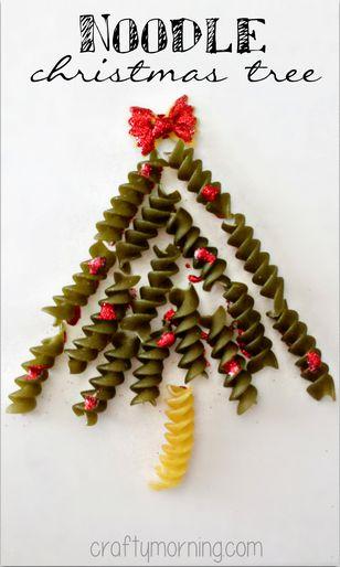 елка из макарон открытка