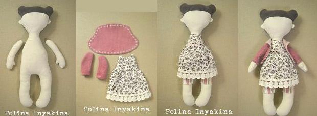 Как сделать из ткани кукол 758