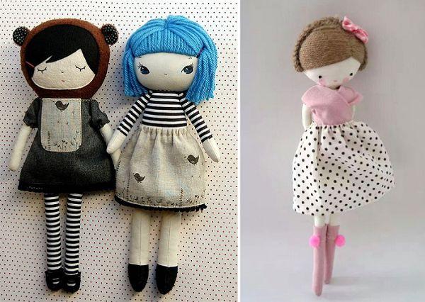 простые куколки из ткани