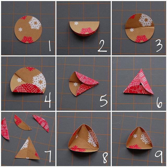 новогодние игрушки из бумаги своими руками схемы видео