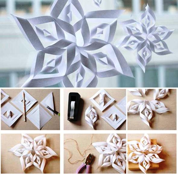 Игрушки из бумаги новогодние своими руками фото
