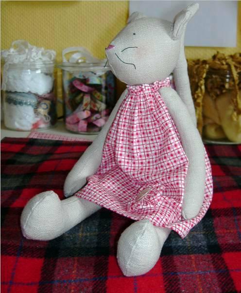 Выкройка кошки тильда в одежде