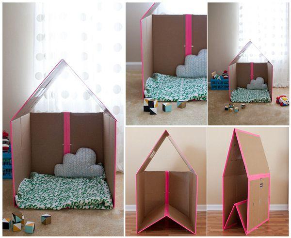 Сделать домик из коробки или картона своими руками