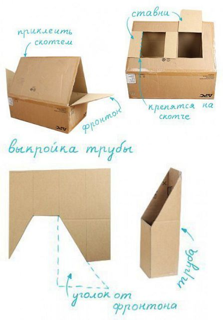 делаем домик из картона